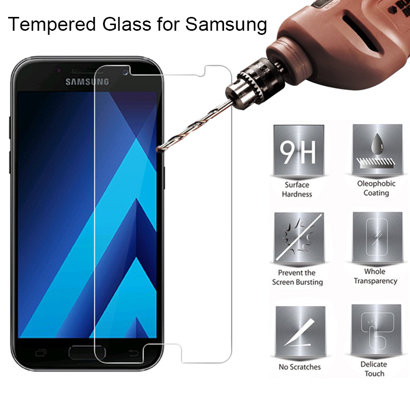 Explosion-proof Tempered Film For Samsung A5 2017 A7 A3 J2 Prime Phone Glass Screen Protector For Galaxy J7 2017 J730 J3 J5 Pro
