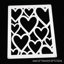 Heart-shaped Frame Metal Cutting Dies for Card Making