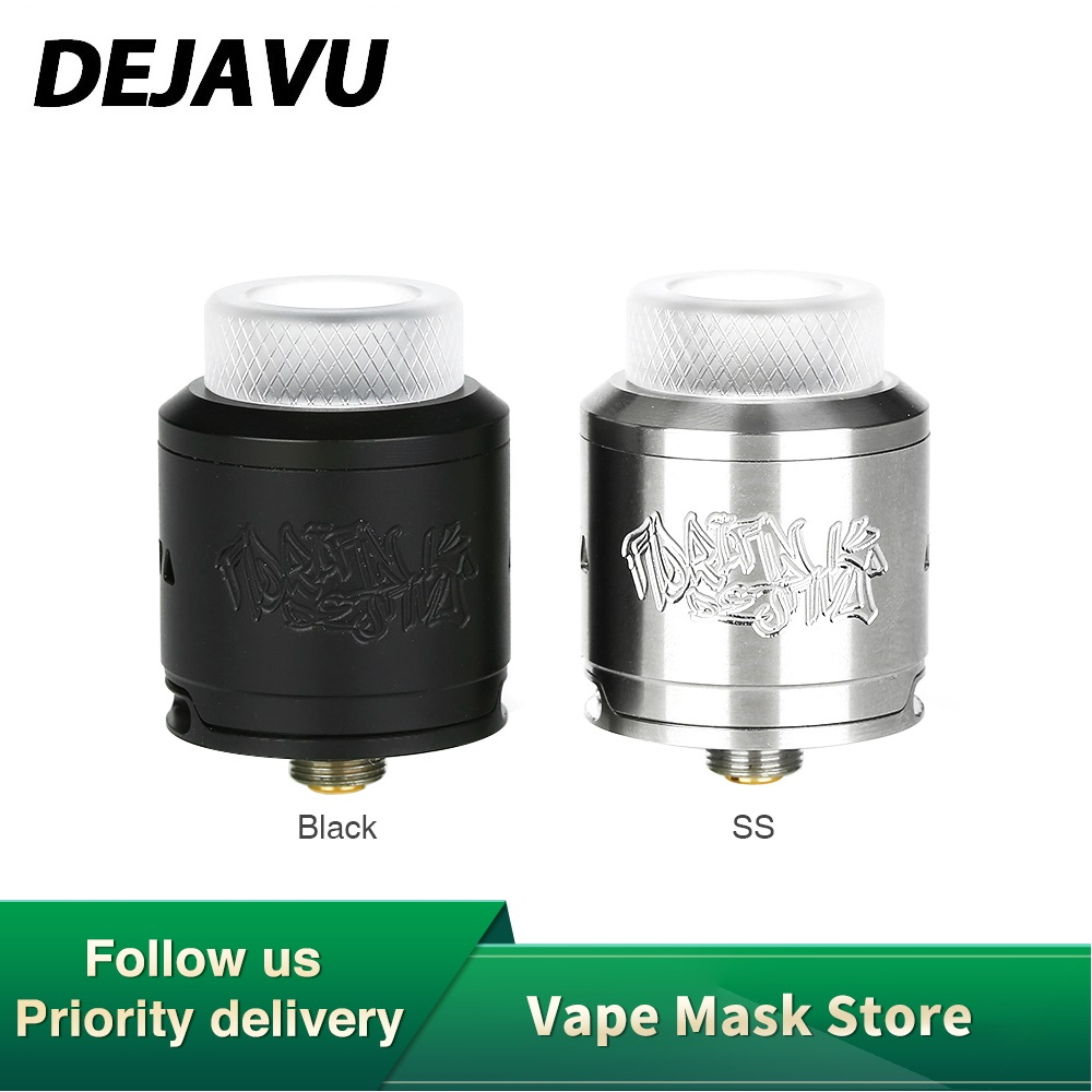 Original DEJAVU RDA With Dual Coils Building & Adjustable Side/Opened 4-tube Bottom Airflow BF Pin Included Vape Vs Dead RDA