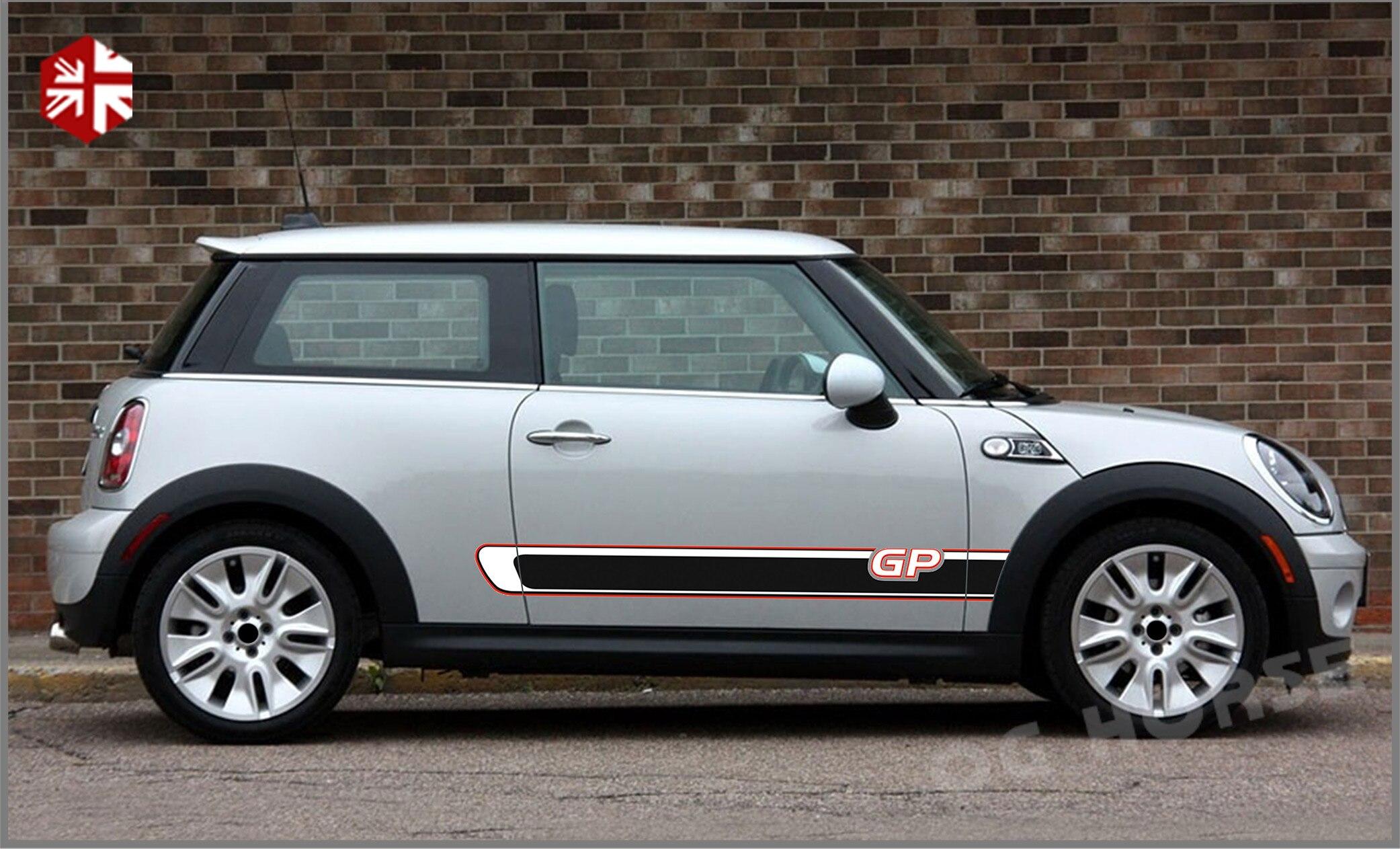 2 шт. наклейки на дверь автомобиля боковые полосы мини GP Стайлинг Наклейка на тело для MINI Cooper S R56 JCW One внешние аксессуары
