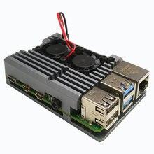 Raspberry pi 4 Модель b двойные вентиляторы с ЧПУ Алюминий сплав