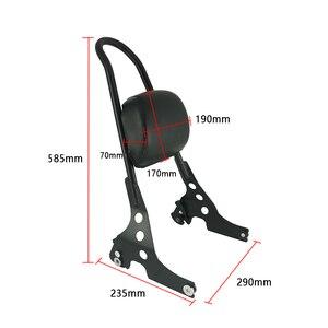 Image 3 - Porte bagages, barre Sissy, coussin de dossier de passager arrière, pour moto Sportster, XL883, XL1200 XL 883 1200, noir et Chrome