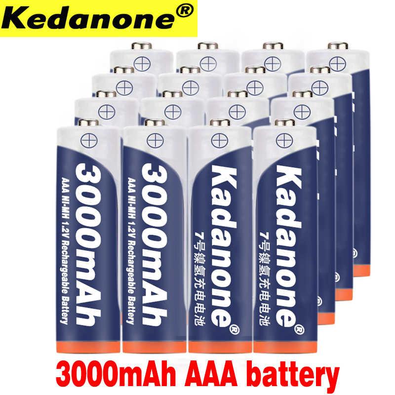 4 〜 20 個新 AAA バッテリー 3000 mAh 3A AAA 充電式バッテリーニッケル水素 3A 1.2 単四電池腕時計マウスコンピュータおもちゃのように