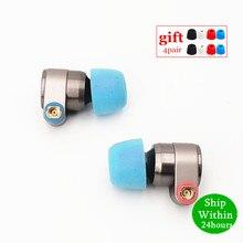 Tinhifi t2 fones de ouvido dupla unidade dinâmica de alta fidelidade baixo fone dj metal 3.5mm earplug com mmcx t2 lata t3 t4