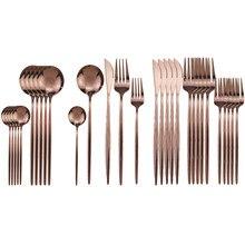 30 pièces Rose ensemble de couverts en acier inoxydable ensemble de vaisselle vaisselle argenterie ensemble de couverts
