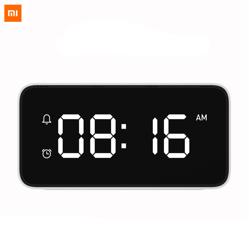 Original Xiaomi mijia xiaoai Smart Voice Broadcast Alarm Clock work with mi home app image