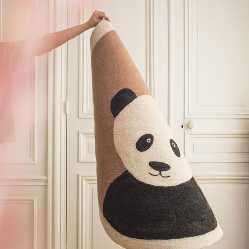 Baby Play Mat Crawling Carpet Kids Room Floor Rugs Round Cartoon Panda Game Pad 090A