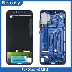 Image 3 - Pour Xiami Mi 8 Mi8 boîtier cadre moyen lunette plaque couverture réparation pour Xiaomi Mi8 Lite 8X couverture pour Xiaomi Mi 9 Mi plaque frontale