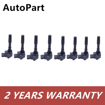8PCS Engine Ignition Coils Set For Audi S6 A6 A7 4G A8 3x RS7 4G 4.0TSI For Bentley Flying Spur 079905110H 079905110J 079905110K