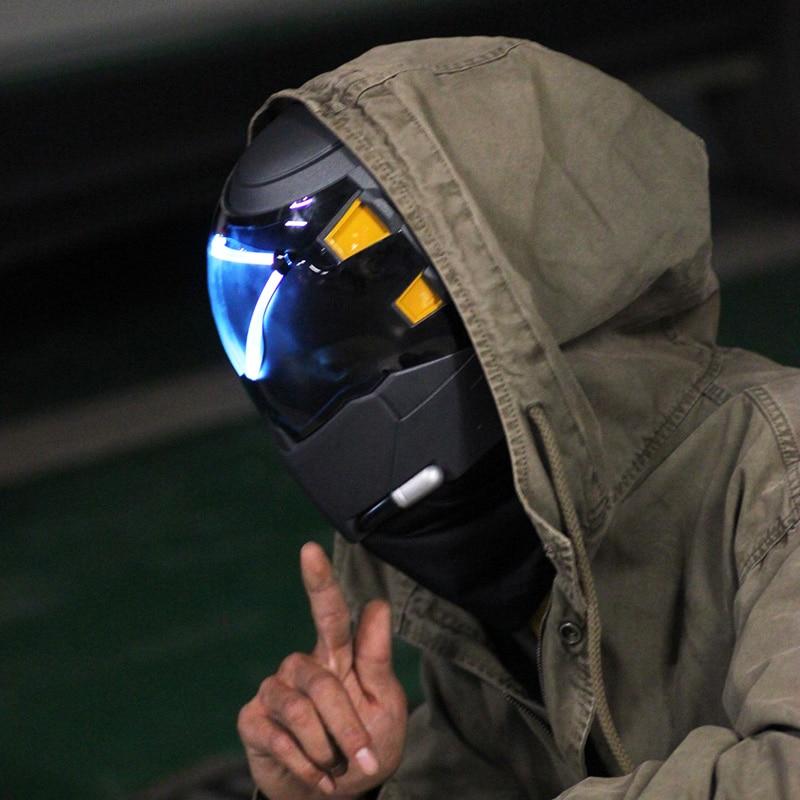 Over Watch Ana Amari Shrike Skin Masks With LED Light FRP Luminous Helmet Cosplay Ana Amar Costume Arylic Mask Without Battery