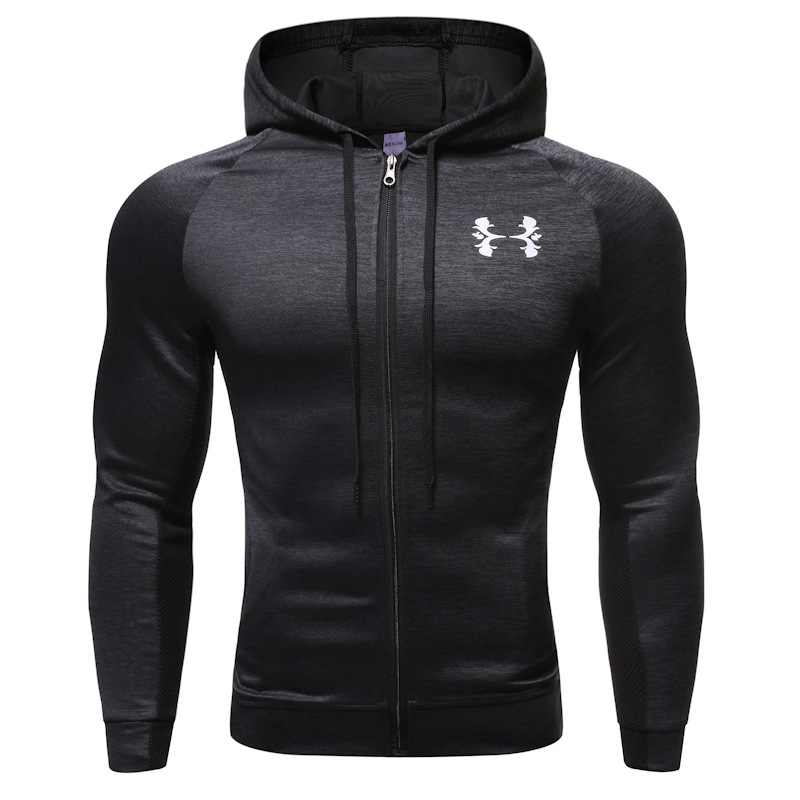 Gym Running Jacket Men Fitness Sport Jacket Coats Men Sweatshirt Hoodie Coats Sportwear Long Sleeve Zipper Hoody Male Sweatshirt