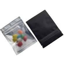 100pcs/lot Black 7.5x10cm Resealable Matte Zip Lock Packaging Bag Aluminum Foil Self Seal Zipper Spice Powder Packing Bags