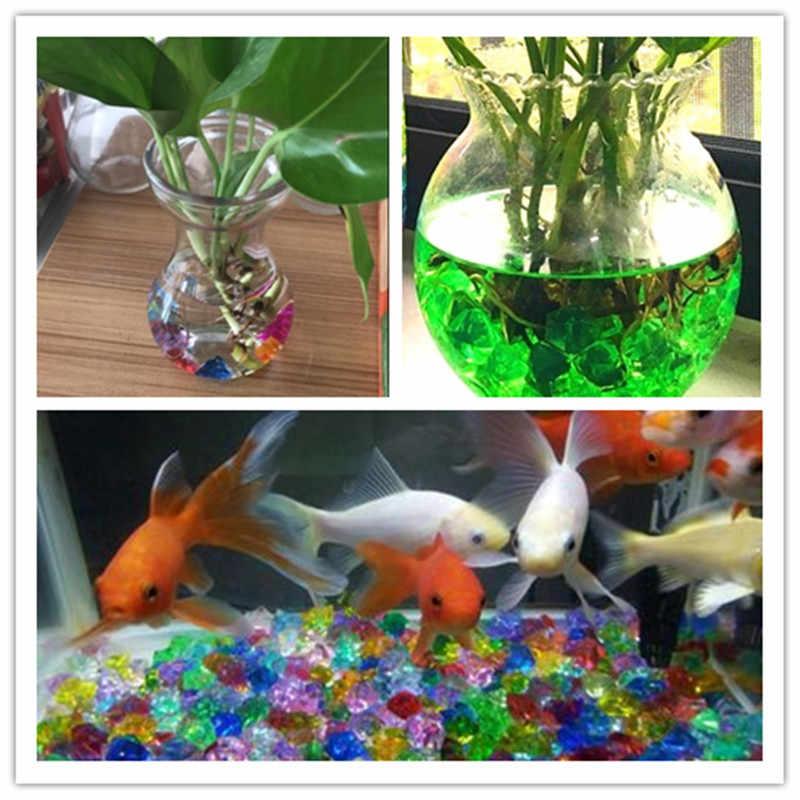 100 ピース/ロット多色水族館アクリル石水槽の花瓶装飾小石岩宝石石