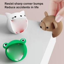2Pcs Cartoon Silicone Corner Protector For Kids Security Child Protection Corner Cover Baby Safety Guards Furniture Accessories