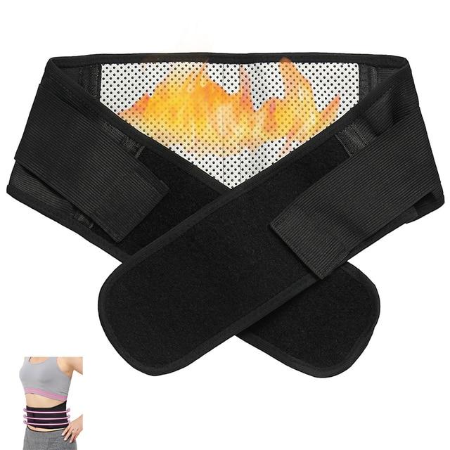 Band Back waist weightlifting gym sport lumbar warm support belt trimmer slimming training slim corset Lumbar Adjustable 2