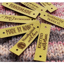 Labels for Handmade-Items Customize Knitting-Clothes-Tags Rivets Garment Crochet Diy-Accessories