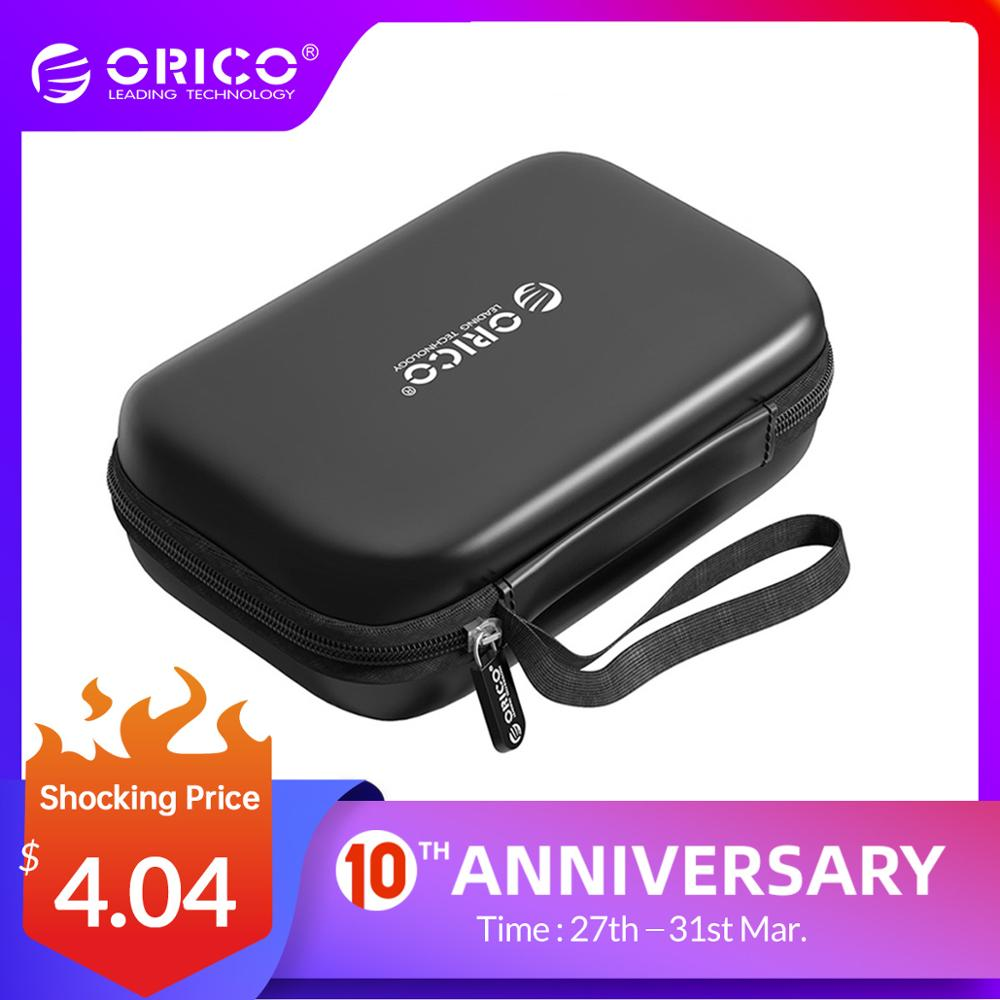 ORICO External Storage Hard Case HDD SSD Bag For 2.5 Hard Drive Power Bank USB Cable Charger Power Bank Earphone Case PHM Black