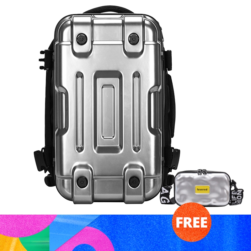 Backpack Men Personality Female Hard Shell Short-distance Sports Training Fitness Cycling Travel Cool Backpack