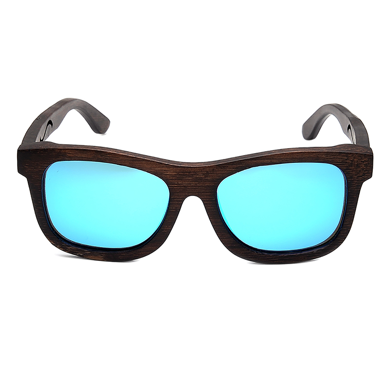 BG006d -CZC  Ebony Wooden Sunglasses for Women And Mens With Bule Polaried Lens  (5)