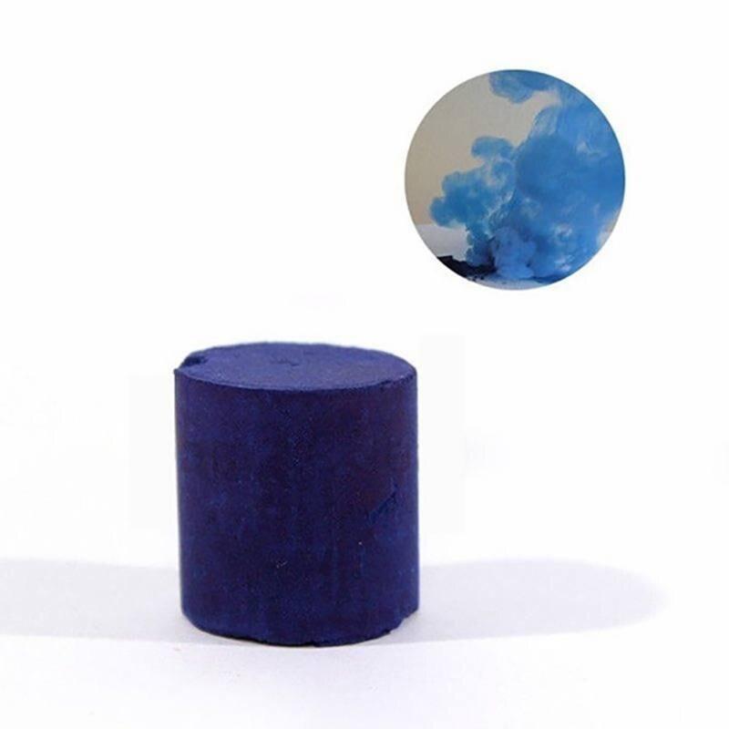 Принадлежности для Хэллоуина, красочный дымовой эффект для фотографии, дымовой торт, белый дымовой эффект, дымовая бомба, помощь для фотосъемки - Цвет: blue 1pcs