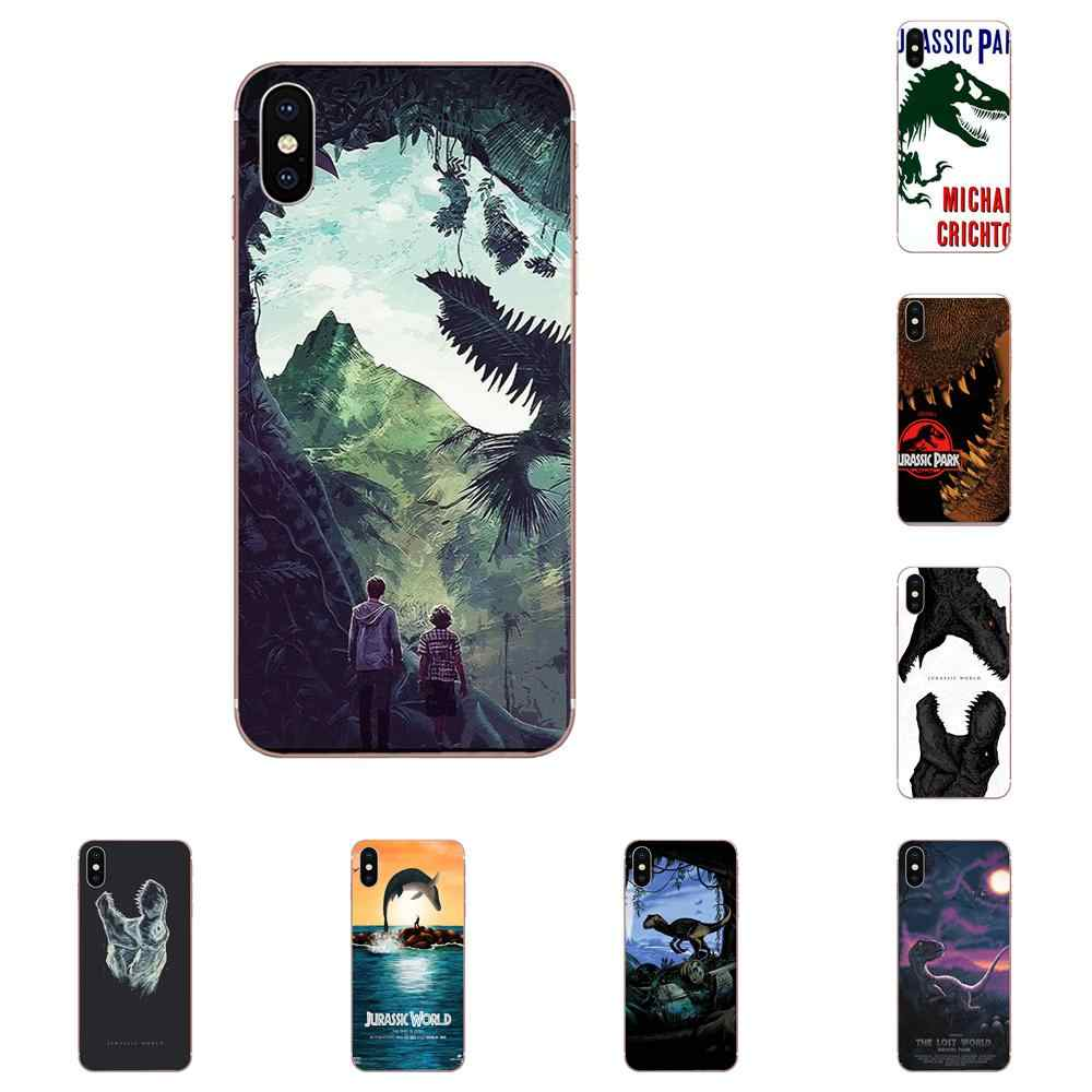 Soft TPU Cases Capa Movie Jurassic World Dinosaur For Galaxy Grand A3 A5 A7 A8 A9 A9S On5 On7 Plus Pro Star 2015 2016 2017 2018