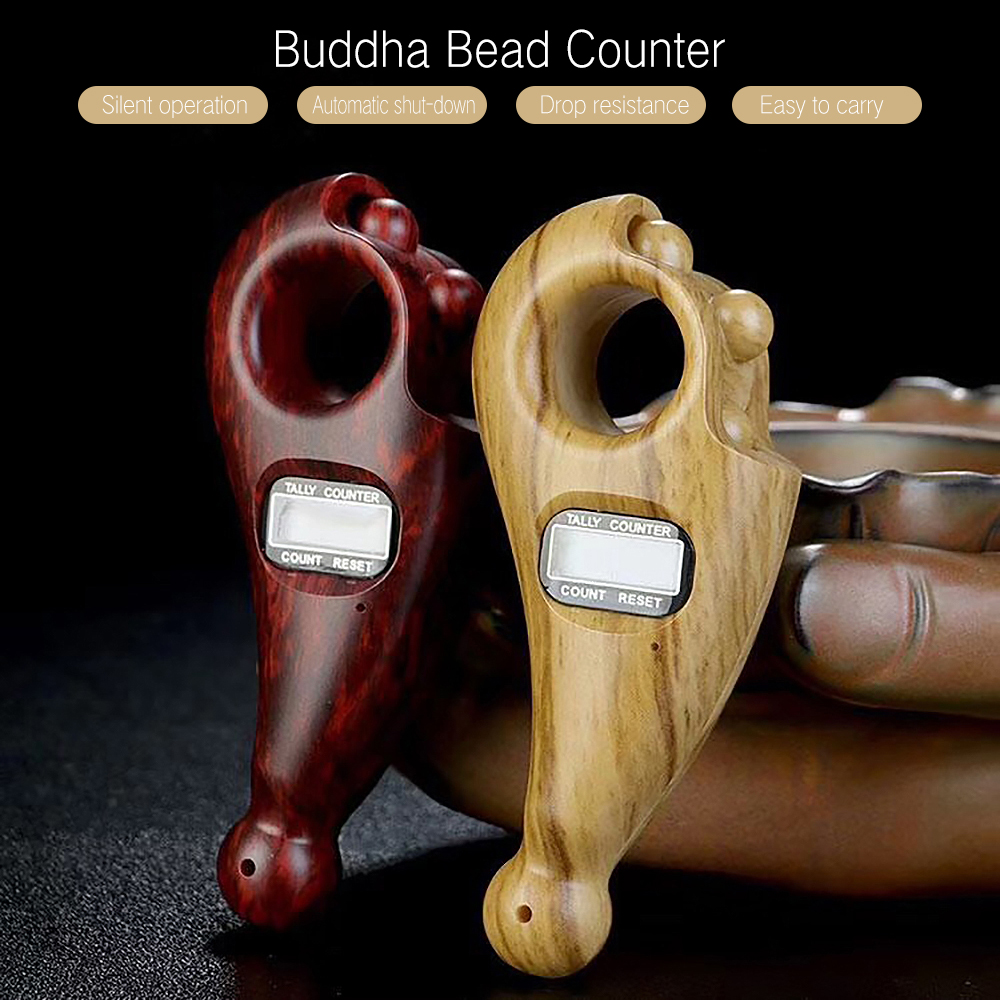 Portable Buddha Beads Counter Fall-Resistant Sturdy Accurate Lightweight Rotating Prayer Beads Durable Low Noise Digital Display