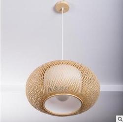 Bambusowy abażur  zawieszka sufitowa  DIY wiklinowe abażury rattanowe splot wisząca lampa (nie zawiera żarówek)|Klosze i abażury do lamp|   -