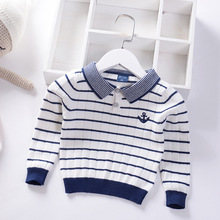 Baby Sweaters For Boys Autumn Winter 2019 New Toddler Boys Sweater Kids Girl Clothes Solid O-neck Children Clothing недорого