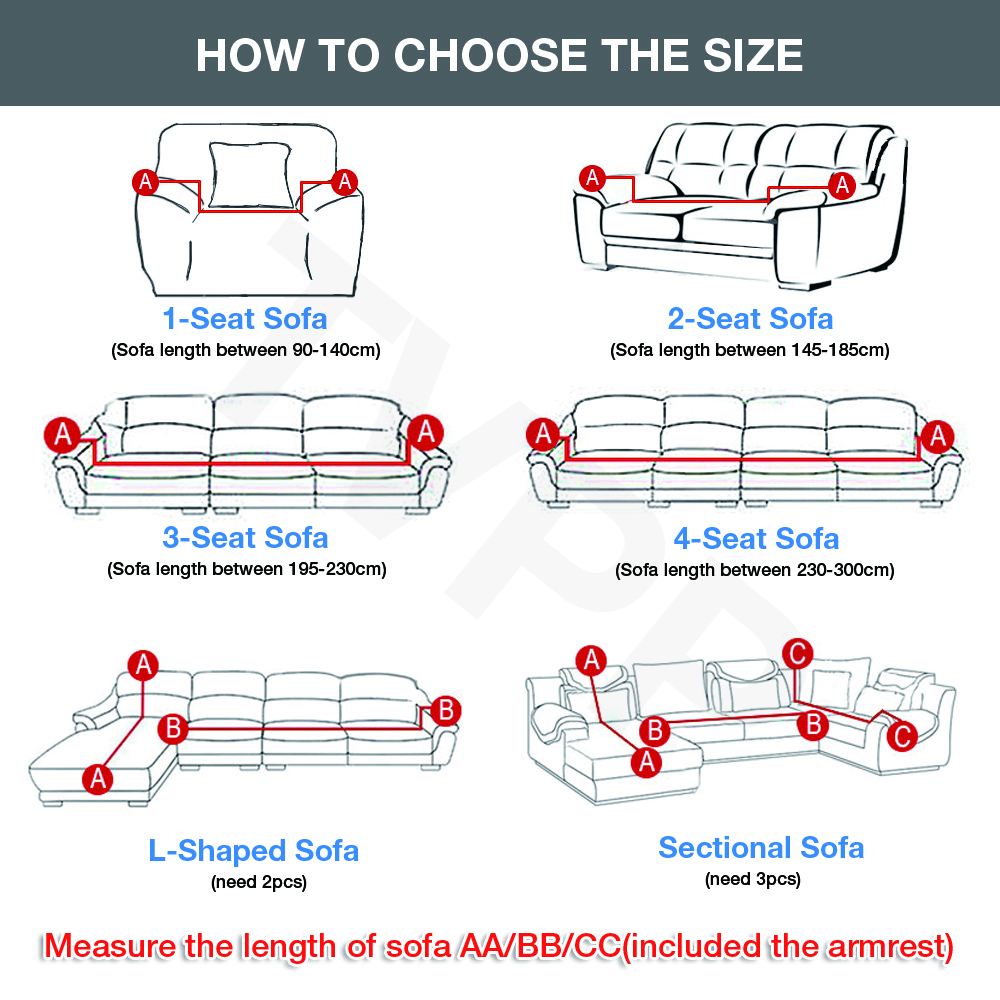Elastic Stretch Sofa Cover 1/2/3/4 Seater Sof Slipcover Couch Covers for Universal Sofas Livingroom Sectional L Shaped Slipcover