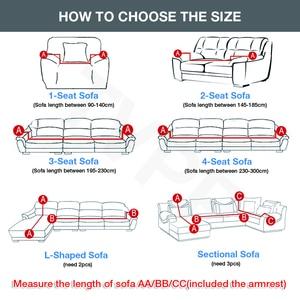 Image 2 - Эластичный стрейч диван Ipad Mini 1/2/3/4 местный Sof Чехол Диванные покрывала для универсального диваны для гостиной, вид в разрезе L фасонный чехол