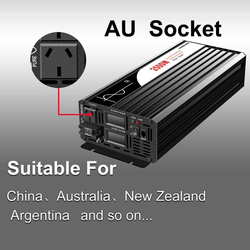 Ultimate SaleSolar-Power-Inverter Sine-Wave Digital 110V 2500W 220V Pure 12v 24v DC AC 48V To Display