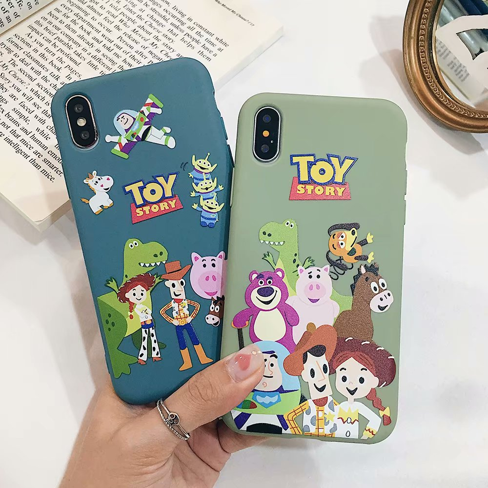 GYKZ Cute Cartoon <font><b>Toy</b></font> <font><b>Story</b></font> Buzz Woody Fitted Cases For <font><b>iPhone</b></font> XS MAX XR X 7 <font><b>6</b></font> 6s Plus Funny Soft Matte Phone Cover Slim <font><b>Fundas</b></font> image