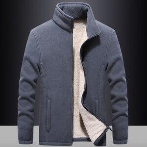 Image 1 - Ветровка мужская с флисовой подкладкой, уличная одежда, спортивная одежда, худи с шерстяной подкладкой, теплые толстовки, пальто, свитшоты, 7XL/8XL/9XL