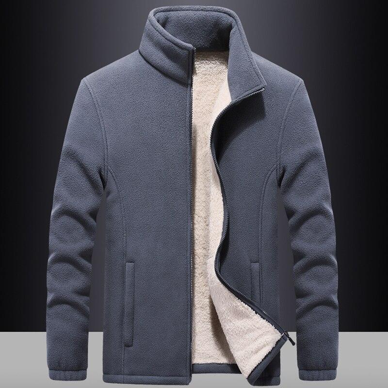 Men's windbreaker Thick Fleece Jackets outwear Sportswear 7XL 8XL 9XL Wool Liner Hoody Warm Hoodies Thermal Coat Sweatshirts Men
