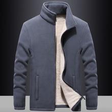 Mens windbreaker Thick Fleece Jackets outwear Sportswear 7XL 8XL 9XL Wool Liner Hoody Warm Hoodies Thermal Coat Sweatshirts Men