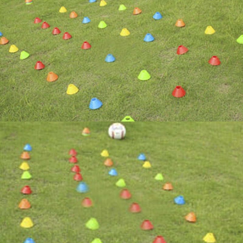 5 יח'\סט באיכות גבוהה כדורגל אימון לחתום צלחת לחץ עמיד קונוסים מרקר דיסקים סמן דלי אביזרי ספורט