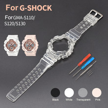Аксессуары для часов Ремешок для Casio G-SHOCK GMA-S110 GMA-S120 S130 ремешок для часов PU защитный чехол Браслет спортивный браслет