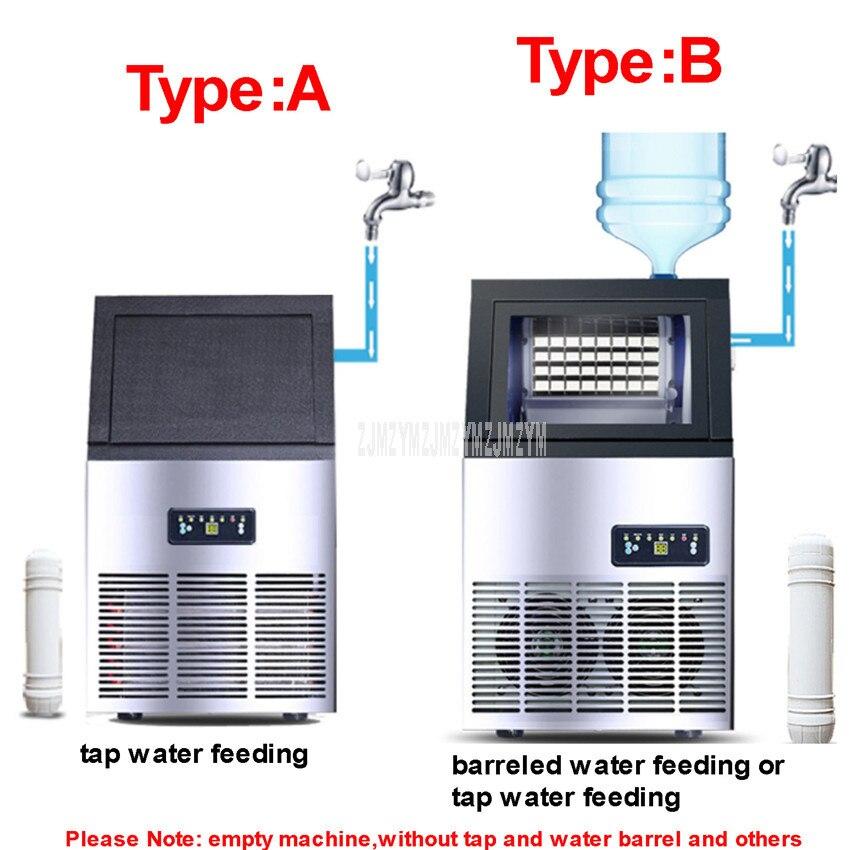 Machine à glaçons électrique automatique de forme carrée de 70 kg/jour Blu ray désinfectent le glaçon faisant la Machine pour la HZB 60 de magasin de barre de café de thé de lait - 4