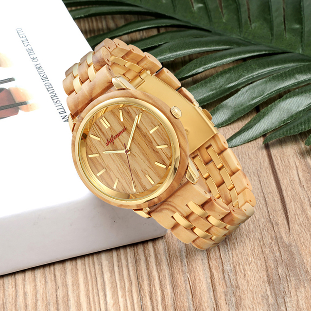 Couple Watches for Lovers Luxury Wood Watch Mens Fashion Wooden Women Dress Clocks Gifts for Valentine's Day Relogio de casal 4