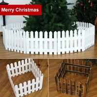 160cm Wooden Fence Christmas Tree Ornament Holiday Showcase Glasses Props Decor Christmas Tree Fence Workmanship Christmas Decor