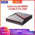 Gaming Mini PC Intel Core i9 9880H Nvidia GTX 1650 4G Grafiken 2DDR4 SSD i5 9300H i7 9750H Windows10 Linux PUBG GTA5 HDMI DP