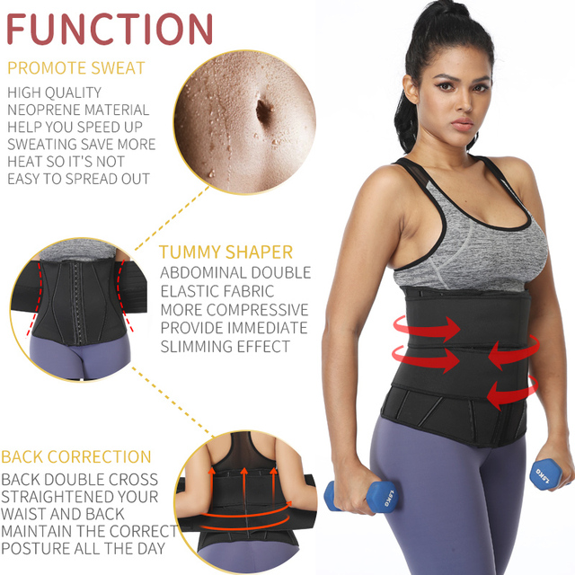 Women Slimming Sheath Waist Trainer Tummy Reducing Shapewear Belly Body Shapers Sweat Strips Sauna Corset Workout Trimmer Belts 3