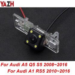 YAZH dla Audi A1 2010 2016 A5 S5 Q5 RS5 2008 2016 HD CCD tylna kamera samochodowa Auto rewers kamera noktowizyjna samochód Backup CAM w Kamery pojazdowe od Samochody i motocykle na