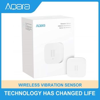 Aqara-Sensor de vibración Zigbee, Mini Detector de rotura de vidrio inalámbrico para sistema de alarma y automatización inteligente del hogar Apple HomeKit