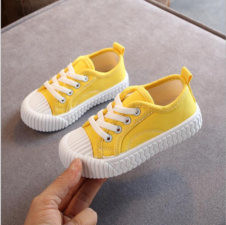 2019 New Spring Autumn Children Canvas Shoes Boys Girls Fashion Sneakers Breathable Kids Sport Shoes Casual Student Tennis Shoes