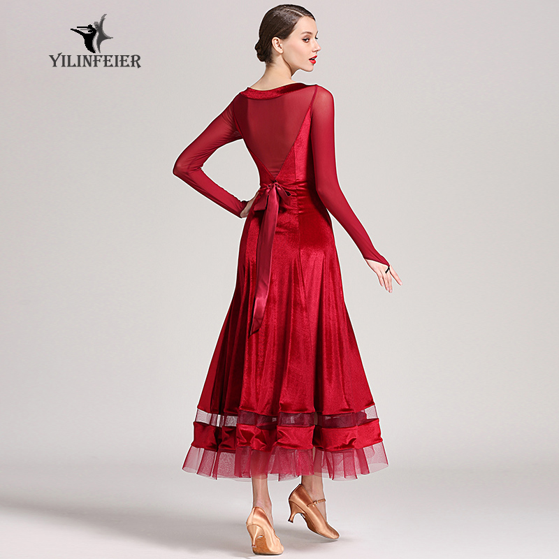 New Ballroom Dance Competition Dress Dance Ballroom Waltz Dresses Standard Dance Dress Women Ballroom Dress  S9048
