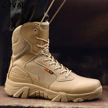 Plus rozmiar 39-47 US buty wojskowe mężczyźni skórzane buty wojskowe dla mężczyzn piechoty buty taktyczne Outdoor Botas Army Bots buty wojskowe tanie tanio ORVAB Podstawowe Skóra Split ANKLE Stałe Dla dorosłych Cotton Fabric Okrągły nosek RUBBER Wiosna jesień Niska (1 cm-3 cm)