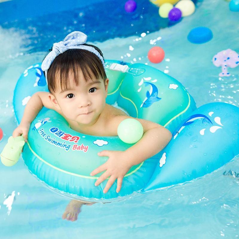 U-shaped Swimming Pool Waist Ring Circle Independent Double Valve Circle Baby Swimming Pool Bathtub Swim Trainer Floats Seat