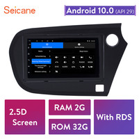 Seicane For 2009 2010 2011 2012 2016 Honda Insight RHD Android 10.0 7 inch Car Unit Player GPS Navigation Support TPMS DVR OBDII
