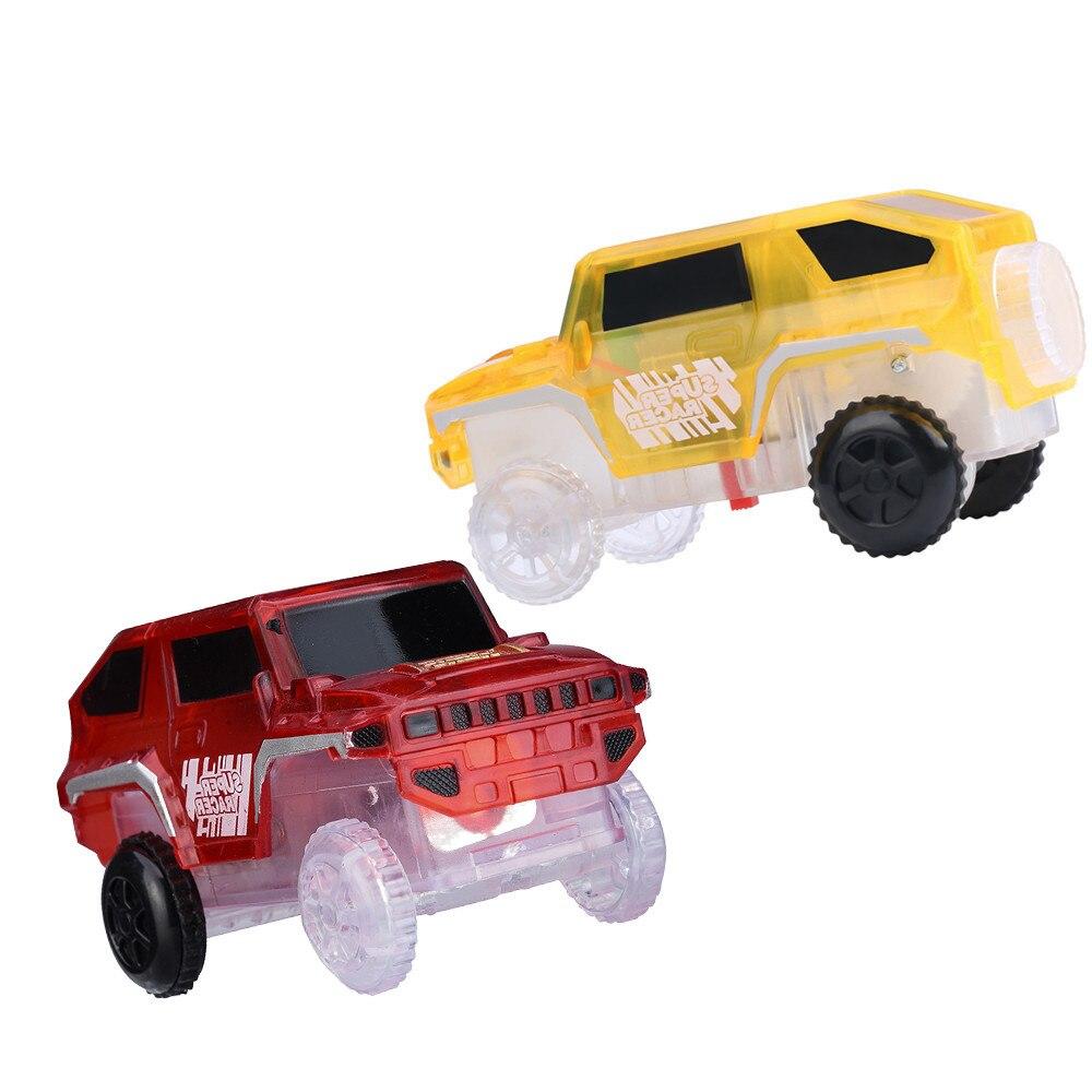 Новая электроника, специальный автомобиль для волшебного трека, игрушки с мигающими огнями, обучающая детская железная дорога, светящаяся ...